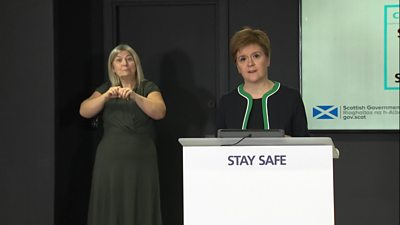 First Minister Nicola Sturgeon said she was acting in response to new guidance from the World Health Organization.