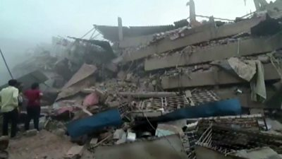 Building collapse in Mahad, India