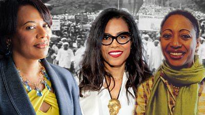 Dr Bernice King, Professor Ilyasah Shabazz and Samia Nkrumah