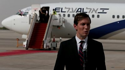 President Trump's senior adviser Jared Kushner spoke after the first commercial flight from Israel to the UAE.
