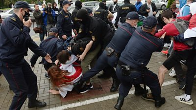 Belarus riot police attack and arrest students thumbnail