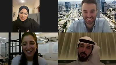Young Israelis and Emiratis chat online