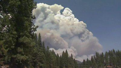 Creek Fire in US near Fresno