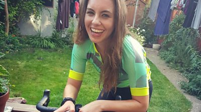 Meredith, a keen cyclist, says she's had Covid-19 symptoms since April