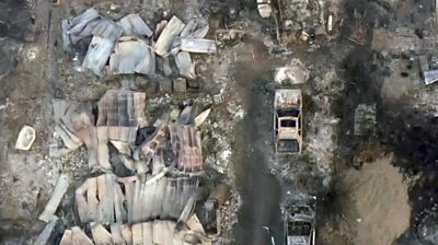Oregon wildfires: Drone footage shows homes completely wiped out