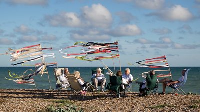 A picnic on the beach in Sussex, photographed by Quintin Lake