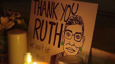 Ruth Bader Ginsburg placard