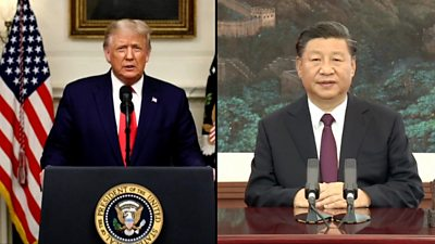 US President Trump and China's Xi Jinping