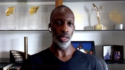 Progress on racism in the United States is not going to happen immediately, says American four-time Olympic champion Michael Johnson.