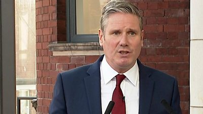 """Labour is becoming a """"competent, credible opposition"""", claims Keir Starmer during his first conference speech as leader."""