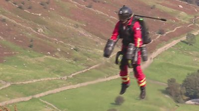 Jet suit being tested
