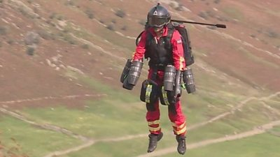 A first test flight has been carried out in the Lake District.