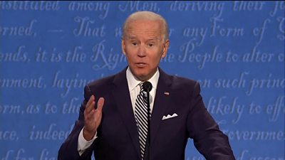First presidential debate: Biden accuses Trump of covering-up the truth thumbnail