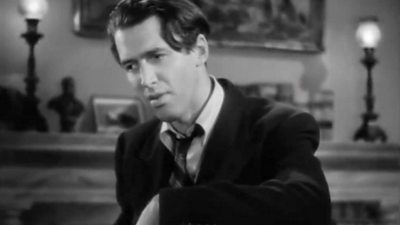 Actor James Stewart in a scene from Mr Smith Goes to Washington