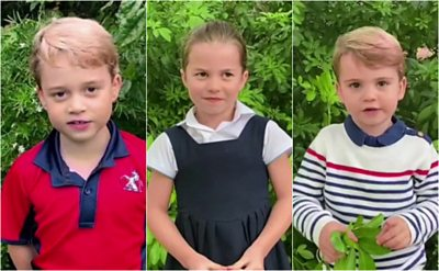 From monkeys to spiders - Prince George, Princess Charlotte and Prince Louis ask about the natural world.