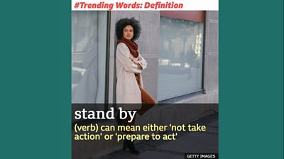 Trending words: stand by - find out about this phrase which was used by Donald Trump