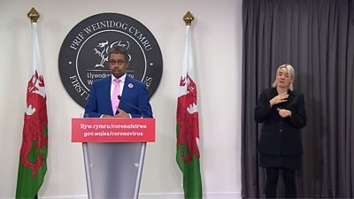 Vaughan Gething at Welsh Government coronavirus press briefing
