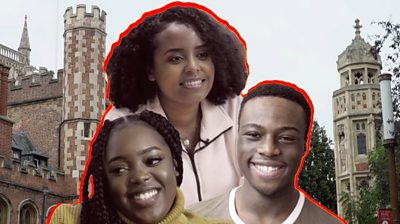 Montage of black students at Cambridge