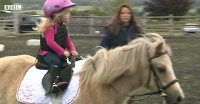 Tony Betsy riding her pony
