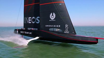 The INEOS UK team boat