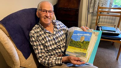 Coronavirus: Man, 100, relives family holidays by painting