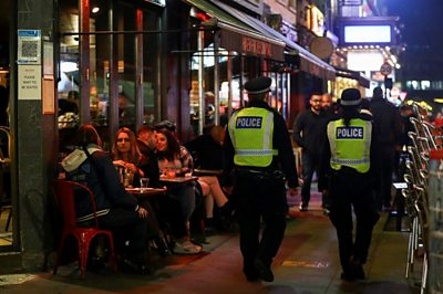 Covid-19: Scuffles in Soho as London moves to Tier 2