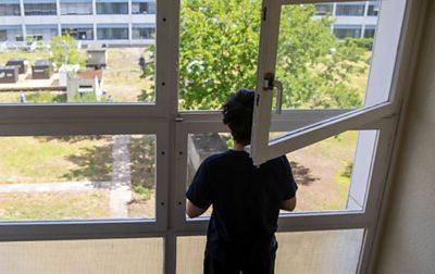 Berlin - windows in block of flats, May 2020