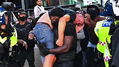 Patrick Hutchinson and counter-protester