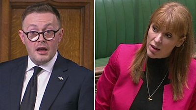 """Labour's deputy leader is rebuked by the deputy Speaker after the word """"scum"""" is heard in the Commons."""