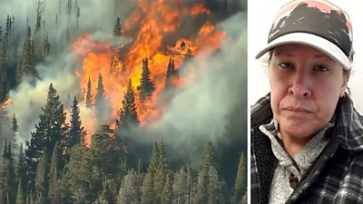 The Colorado wildfires have forced teacher CarrieAnn Fain to leave behind her dream home.