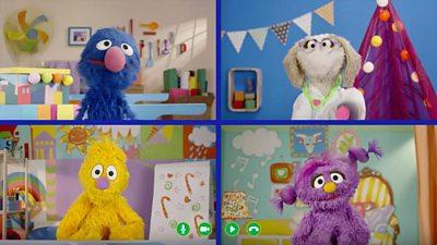 Socially-distanced Sesame Street calms children's Covid fears