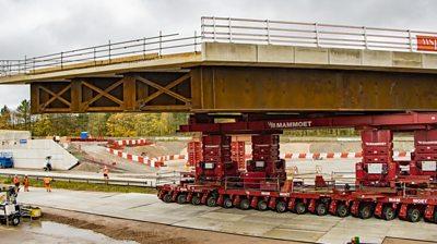 Bridge being installed