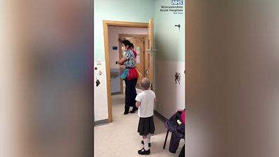 Ballet surprise for patient