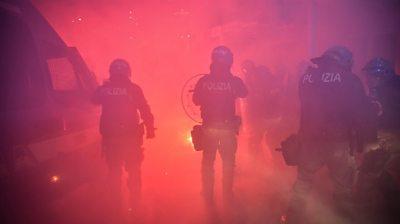 Police in Milan