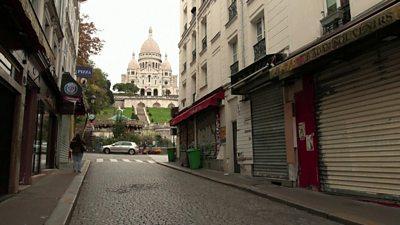 Empty street in Montmartre, Paris