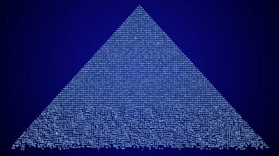 An digital image of a pyramid