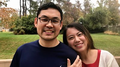 Chenren and Cathy Shao haven't let political differences get in the way of their eight-year marriage.