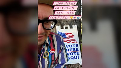 US election: Man drives 18 hours from California to Texas to vote