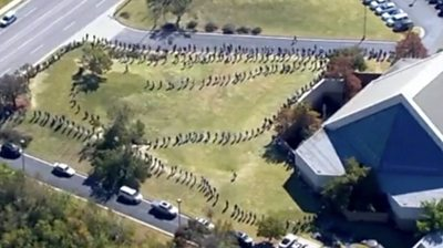 Video from Maryland, Oklahoma and Arizona show some voters facing long waits to cast their ballots.