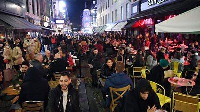 Crowds in Soho