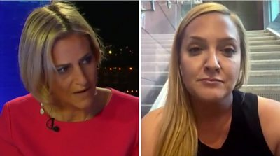 Emily Maitlis on the left and Randi Reed on the right