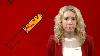 Laura Foster and graphic of a syringe