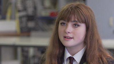 Female school pupil