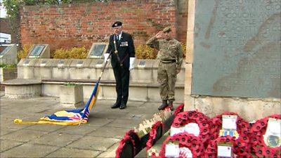 Armistice Day event in Sittingbourne