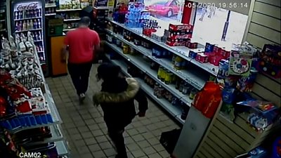 CCTV of Louise Smith and Shane Mays