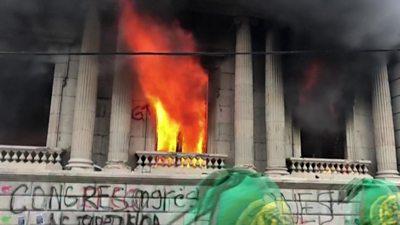 Guatemala's Congress ablaze