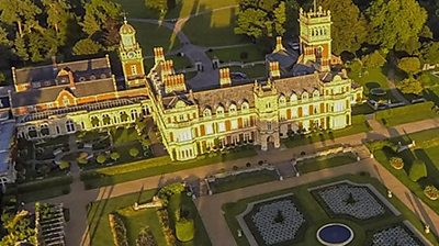 Somerleyton Hall from the air