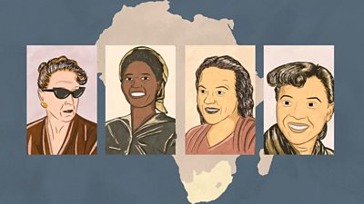 Illustrations of four women