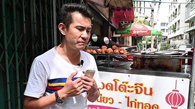 Street food hawker in Bangkok