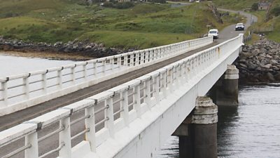 A new bridge between Bernera and the mainland of Lewis - a step closer now.